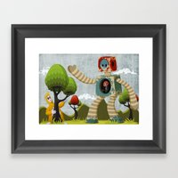 Woody Mecha Framed Art Print