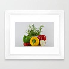 Fresh and tasty Framed Art Print