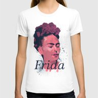 Frida Kahlo - History Of… Womens Fitted Tee White SMALL