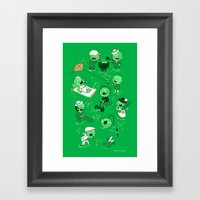 Lawn Of The Dead Framed Art Print