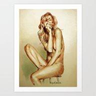Art Print featuring Smoke/1 by Raquel García Maci�…