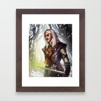 Geralt of Rivia Framed Art Print