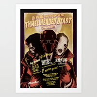 Night Of The 3 Headed Be… Art Print