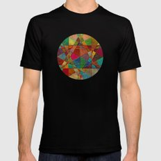 The Beauty of Geometry 5 SMALL Mens Fitted Tee Black