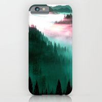 mountains iPhone & iPod Cases featuring Mountains : Mauve & Teal Mist by 2sweet4words Designs