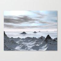 Frozen Arctic Sea Canvas Print