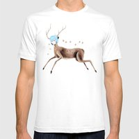 Rei Kahlo Mens Fitted Tee White SMALL