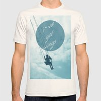 Wings Mens Fitted Tee Natural SMALL