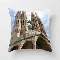 Work in Progress (La Sagrada Familia) Throw Pillow