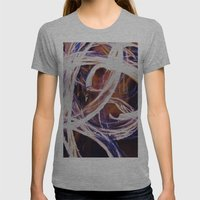 Fire Poi Womens Fitted Tee Athletic Grey SMALL