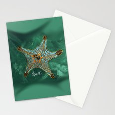 Starfish on Teal. Stationery Cards