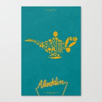 Aladdin Fan Poster Canvas Print