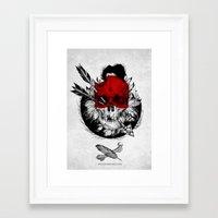 Arrow to the head Framed Art Print