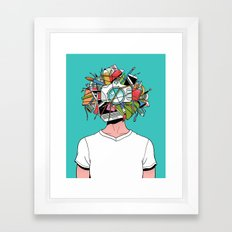 Creative Head Framed Art Print