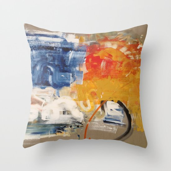 RISING SON Throw Pillow