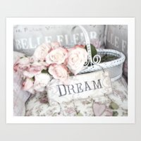Shabby Chic Basket Dream… Art Print