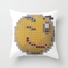 Emoticon Wink Throw Pillow
