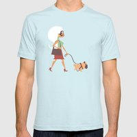 Go Pug Yourself Mens Fitted Tee Light Blue SMALL