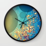 Wall Clock featuring Sky And Leaves by Olivia Joy StClaire