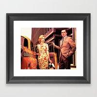 Betty & Don Draper From … Framed Art Print