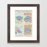 Antics #262 - a day in the life of a sky whale Framed Art Print