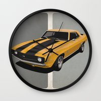 Camaro- Yellow Wall Clock