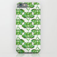 iPhone Cases featuring Luna Moth by Cat Coquillette