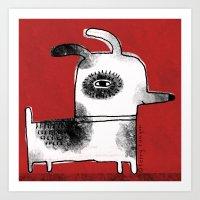 DOG SQUARE Art Print