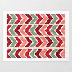 zig zag (red) Art Print