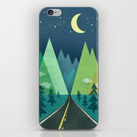 The Long Road At Night iPhone & iPod Skin