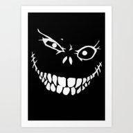 Crazy Monster Grin Art Print