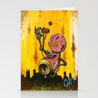 A pink robot for Akira Stationery Cards