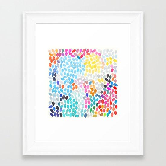 rain 9 Framed Art Print