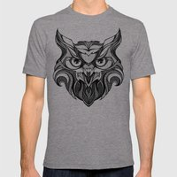 Owl - Drawing Mens Fitted Tee Tri-Grey SMALL