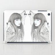 White Feather iPad Case