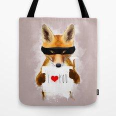 Fox I Love You Tote Bag
