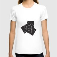 Arrows Womens Fitted Tee White SMALL