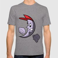 Moon Goon Mens Fitted Tee Tri-Grey SMALL
