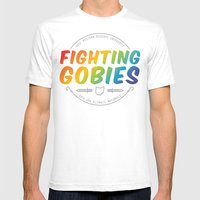 Fighting Gobies Nationals - Rainbow Mens Fitted Tee White SMALL