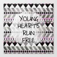 Young Hearts Canvas Print
