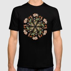 Flemish Floral Mandala 3 Mens Fitted Tee SMALL Black