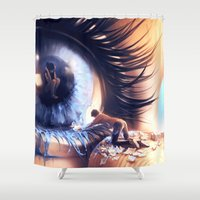 Show me love Shower Curtain