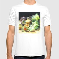 FRUIT Mens Fitted Tee White SMALL