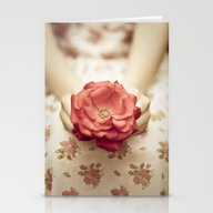 Rose In Her Hands III Stationery Cards