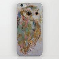 Owl Painting iPhone & iPod Skin