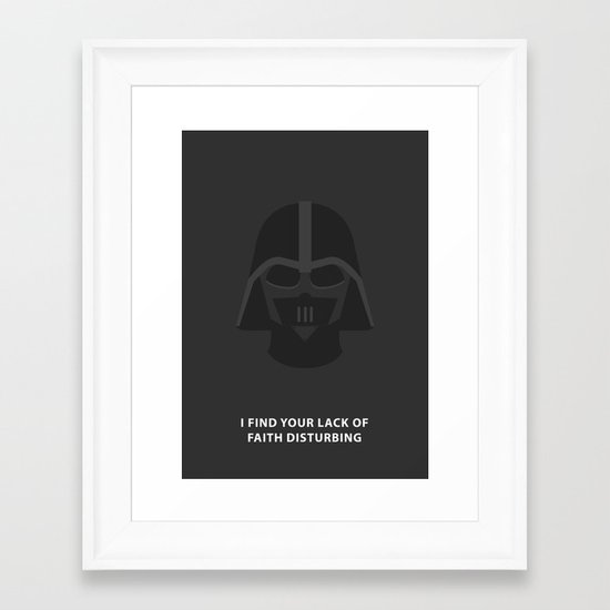 Star Wars Minimalism - Darth Vader Framed Art Print