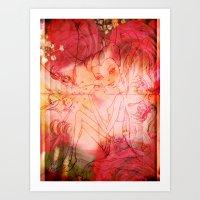 Girl Butterfly Art Print
