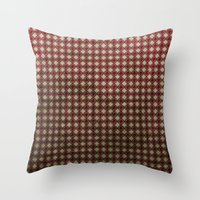 Royal Scarlet - Textured… Throw Pillow