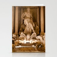 Trevi Fountain At Night Stationery Cards