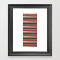 Navajo Pattern 2 Framed Art Print